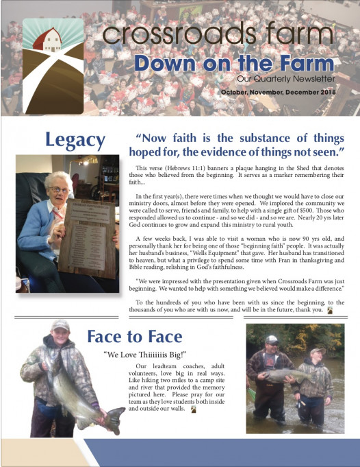 Down On The Farm: The Quarterly Newsletter of Crossroads Farm (v.74)