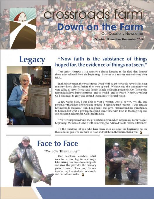Down On The Farm: The Quarterly Newsletter of Crossroads Farm (v.74)