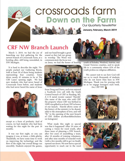 Down On The Farm: The Quarterly Newsletter of Crossroads Farm (v.75)