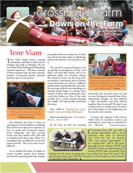 Down On The Farm: The Quarterly Newsletter of Crossroads Farm (v.76)