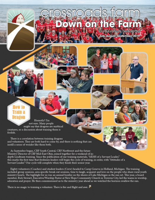 Down On The Farm: The Quarterly Newsletter of Crossroads Farm (v.77)