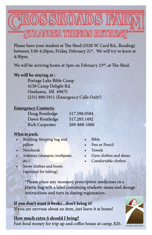 Winter Retreat Fact Sheet