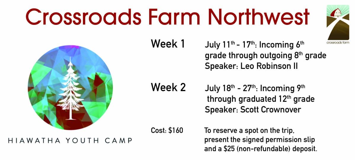 CRF Northwest: Hiawatha Youth Camp